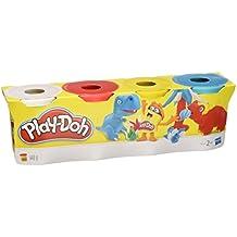 Hasbro Play-Doh Pasta da modellare, confezione da 4 pezzi di colori assortiti - Libera Accessori Natale