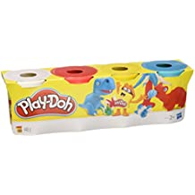 Play-Doh - Pack 4 plastilinas, juego creativo (Hasbro 22114EU4)