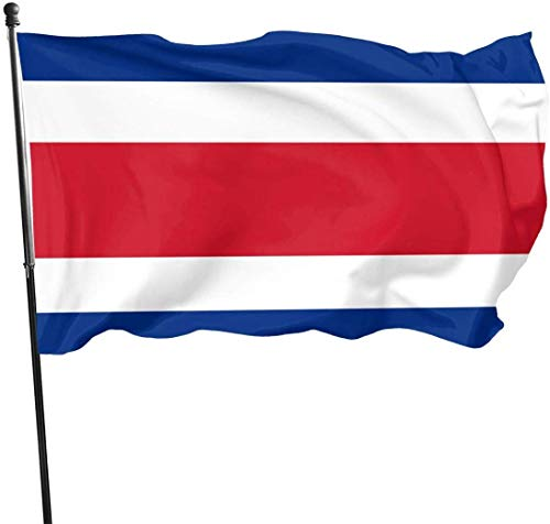 Oaqueen Banderas 3x5 Feet Flag of Costa Rica - Vivid