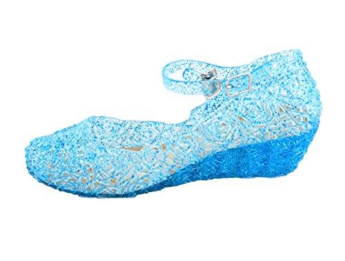 MySweetCorner Prinzessin ELSA Absatz-Schuhe Blau Schneeflocken (Herstellergröße 31) 29 EU
