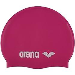 Arena Classic Jr Gorro de Natación, Unisex niños, Rosa (Fuchsia/White), Talla Única