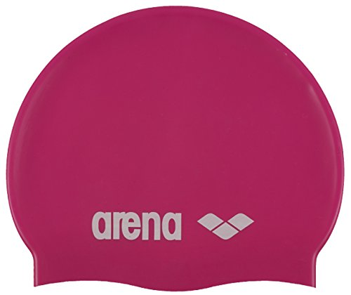Arena Kinder Badekappe Classic Silicone Junior 91670 Fuchsia/Weiss One size