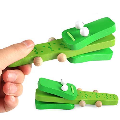 artoon Krokodil aus Holz Castanet Clapper, Musikinstrument, Kindergarten Kindergarten ()