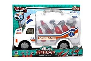 Kidz Corner Ambulancia Luces y Sonidos con Accesorios médico,, 439495