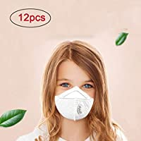 💕💕 12pc Face Masks N95 Particulate Respirator Masks with Valve Kids PM2.5 Dust mask