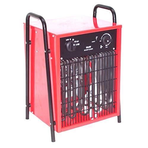 55151 - Calefactor eléctrico (9 kW, 9000 W, con termostato integrado, protección contra sobrecalentamiento, 2 niveles de calor y función ventilador)