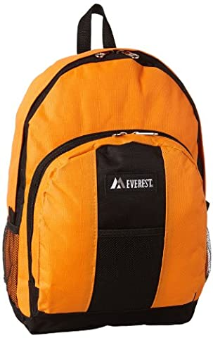 Everest Backpack with Front and Side Pockets, Orange, One