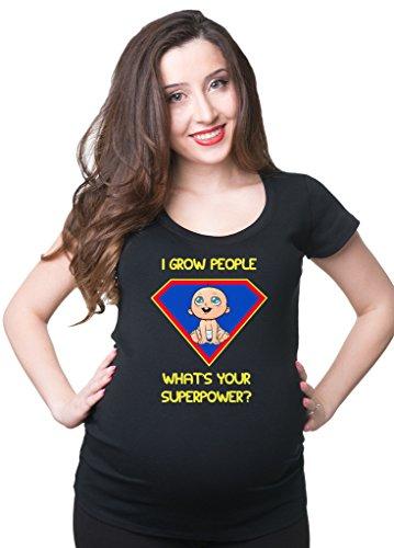 Milky Way Tshirts Frauen I Grow Menschen, was Ihre Superpower für Schwangere Frauen T-Shirt Schwangerschaft T-Stück XX-Large Schwarz (Mutterschaft T-stücke Lustig)