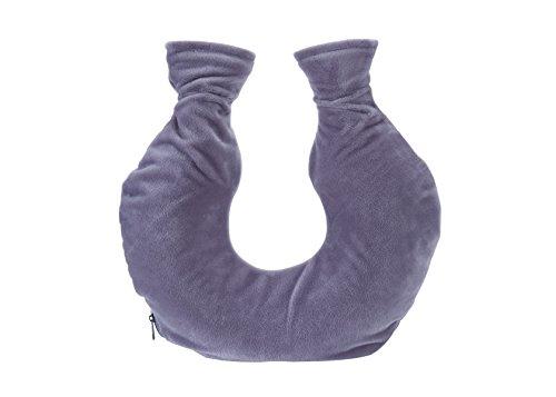 hochwertige Nacken-Wärmflasche aus PVC mit extra weichem Fleecebezug und Reißverschluss | große Öffnung | lindert Nacken-, Rücken- und Schulterschmerzen | Wärme-Therapie