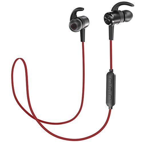 TaoTronics Bluetooth Kopfhörer 4.1 In Ear Wireless Headset CVC 6.0 Geräuschunterdrückung MEMS Mikro IPX6 Spritzerfest bis zu 8 Stunden Spielzeit für iPhone, iPad, Samsung, Huawei, HTC usw. (Tao Bluetooth)