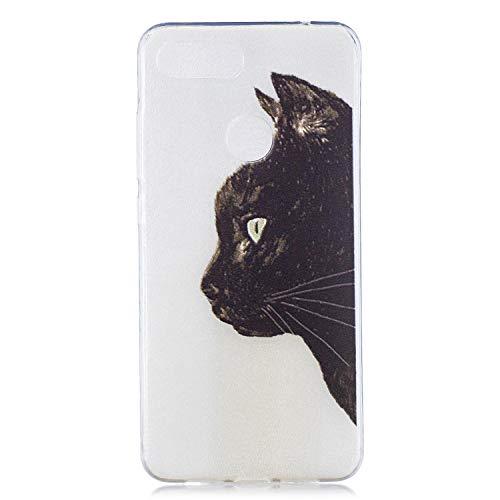 Ultradünne R&um-Schutzhülle für Xiaomi Mi 8 Lite / Mi8 Youth Hülle Handyhülle, Anti-Drop-Telefonkasten TPU-Hülle (Katzenkopf) Silikon-Handyhülle. HEX25