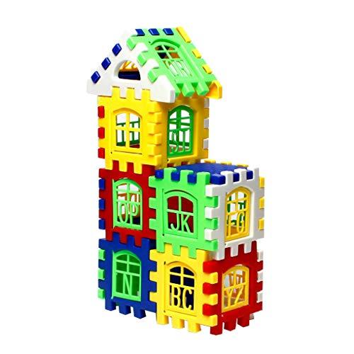 10fa019aa2 Aiming 24pcs Bambini Bambini Funny Bricks House Building Blocks  apprendimento Costruzione Toy Puzzle del Mattone