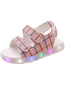 Zapatos Niña,Sandalias de verano para bebés Niños LED Zapatos luminosos Chicos Chicas Zapatillas deportivas para...