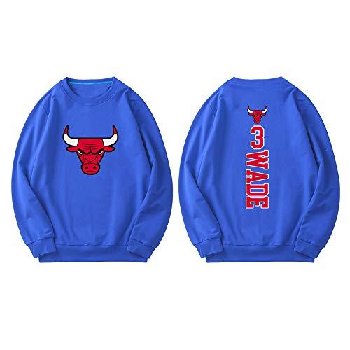Chicago Bulls Wade Basketballjacke Herren Training Langarm Rundhals Pullover, dünn