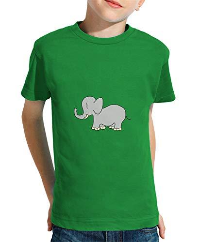latostadora - Camiseta Elefant para Nino y Nina Verde Pradera XS