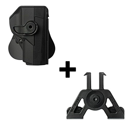 IMI Defense Tactical retention rotating 360 roto paddle polymer Holster + Molle adapter attachment for Beretta PX4 STORM .45 Full Size,COMPACT pistol handgun -