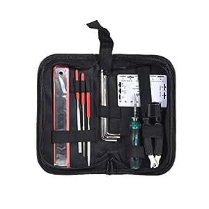 WINOMO Guitar Repair and Maintenance Accessories Kit String Organizer Guitar Winder String Cutter Gauge Repair Tool Set for Guitar Ukulele Bass