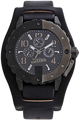 Jean Paul Gaultier 8500201 - Reloj de pulsera para hombre, negro/plata