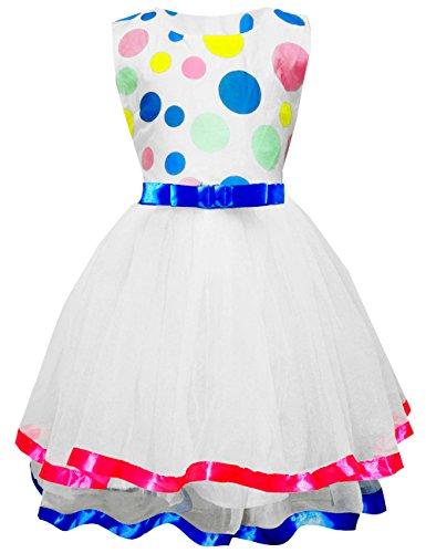 Eulla Kinder M?dchen Kleider Prinzessin Polka Dots Print Tutu Kleid Baby T¨¹ll Kleid Urlaubskleid (Disney Princess Tutu Kleid)