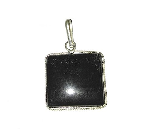Malabar Gems Lab Certified Square Shape 10 Carat Black Tourmaline Pendant