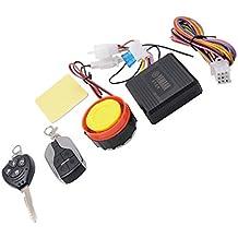 MagiDeal Kit de Alarma Dispositivo Antirrobo Luces Intermitentes de Advertencia de Seguridada para Motocicleta