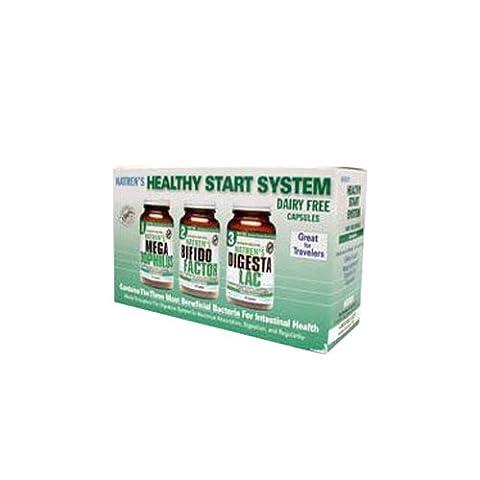 Healthy Start System, Dairy Free, 3 Bottles, 30 Veggie Cap Each (Ice)