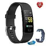 Moson Fitness Armband, Fitness Tracker Aktivitätstracker Pulsuhren Wasserdicht IP67 Schrittzähler Fitness Uhr Farbdisplay für Damen Herren und Kinder