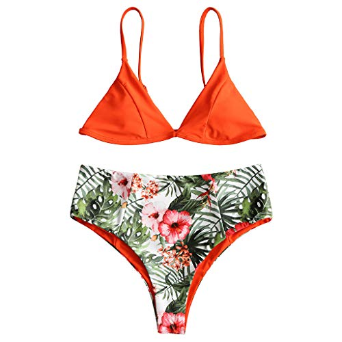 MA87 Print - Push - Up - BH Frauen Aufgefüllt Strand Bikini Set Badeanzug Beachwear In Badehosen