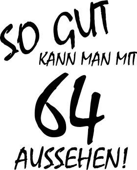 Mister Merchandise Tote Bag So gut kann man mit 64 aussehen! Jahren Jahre Borsa Bagaglio , Colore: Nero Nero