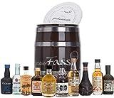 probierFass Rum Probierset   10 beliebte Rum Klassiker (10 x 0.05 l) in einem originellen Fass mit Geschenkverpackung   Rum Geschenk   Rum Set