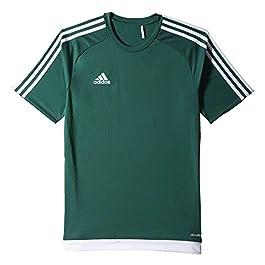 adidas Estro 15, T-Shirt Uomo, Multicolore (Verde Opalo/Blanco), L