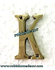 Robin Exports Home Decor Alphabet 'K' Letter Design DELF Door House Address