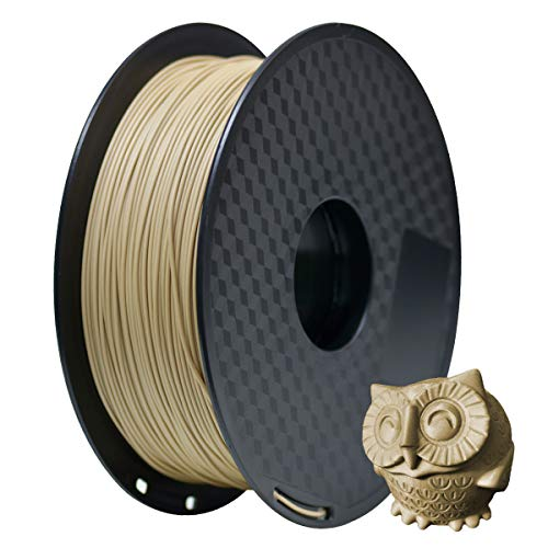 1.75mm PLA Filament GEEETECH for 3D printing, 1kg Spool, Wood