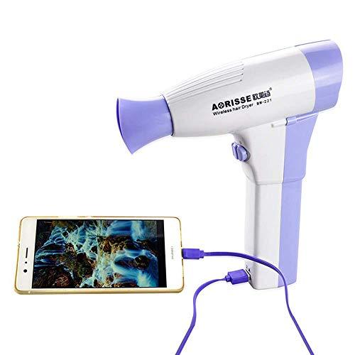 LIUJIE Drahtlose Haartrockner, tragbare Lithium-Batterie wiederaufladbare kühlen heißen Wind großen Wind Haartrockner, Home Travel Outdoor Business Gebläse Friseurwerkzeug