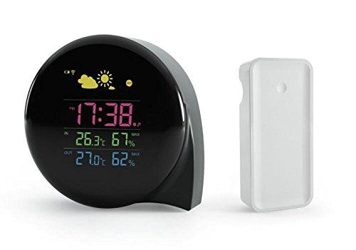 Ade ck orologio sveglia con display a palette bianco x