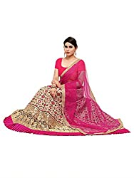 Styles closet women Jacquard Lehenga Choli Cream Pink