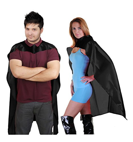 Erwachsene Herren Damen Super Hero Cape Plain Comic Book Avenger Poncho Boxer Bademantel Fancy Dress Parteien Gr. Herren 122 cm, (Erwachsenen Super Hero Cape)