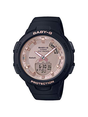 CASIO Damen Analog-Digital Quarz Uhr mit Harz Armband BSA-B100MF-1AER (Quarz-uhr Casio)