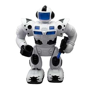 Super cool robot pioneer, marche fait de la lumière et des bruits