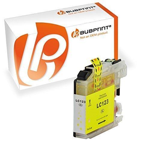 Bubprint Druckerpatrone Yellow kompatibel für Brother MFC-J4410DW MFC-J470DW DCP-J4110DW Drucker LC-123 LC123 mit Chip