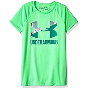 Under Armour Mädchen Big Logo Tee Solid Short Sleeve kurzärmelig