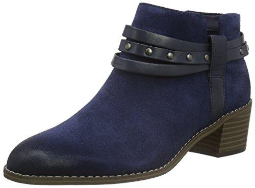Clarks Damen Breccan Shine Cowboy Stiefel, Blau (Navy Suede), 39.5 EU (Studded Boot Suede)