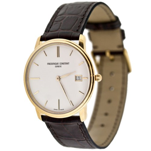 Frederique Constant FC-220NW4S5 37mm Stainless Steel Case Brown Calfskin Anti-Reflective Sapphire Men's Watch