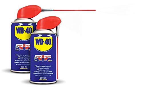 WD-40 • Produit Multifonction • Spray Double Position • Sans Silicone • Non Conducteur • Compatible Plastiques, Caoutchoucs, Tous Métaux • 250 ML
