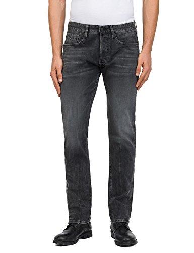 Replay Herren Newbill Straight Jeans, Grau (Dark Grey Denim 9), W31/L34