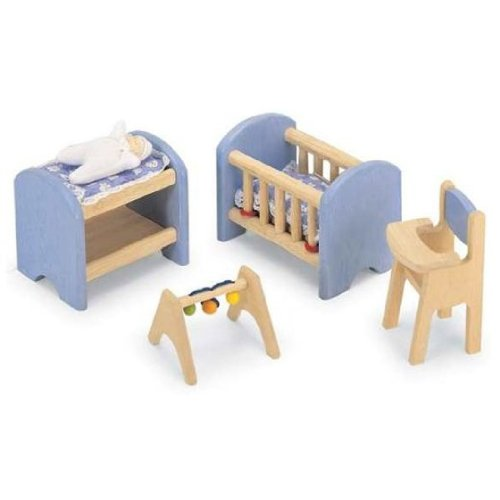 Pintoy Dolls House Wooden Accessory set - Nursery