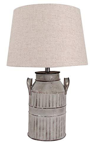 Lamp for Less Tischleuchte Milk, Tischlampe mit Schirm in beige, rustikale Milchkannen Optik, EEK A++, 40cm
