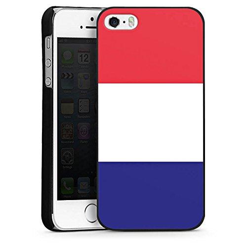 Apple iPhone 5s Housse Étui Protection Coque France Drapeau Ballon de football CasDur noir