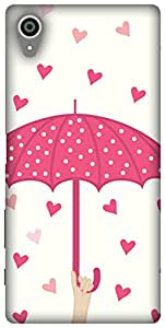 The Racoon Lean printed designer hard back mobile phone case cover for Sony Xperia X. (Pink Raini)