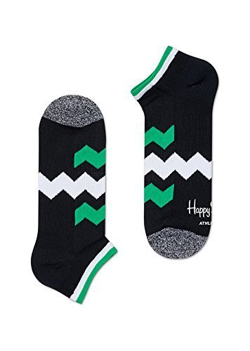 Preisvergleich Produktbild HAPPY SOCKS Athletic Zick Streifen niedrig Socke - Schwarz, 36-40